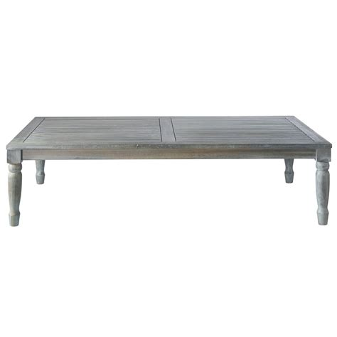 acacia garden coffee table in grey w 140cm chypre