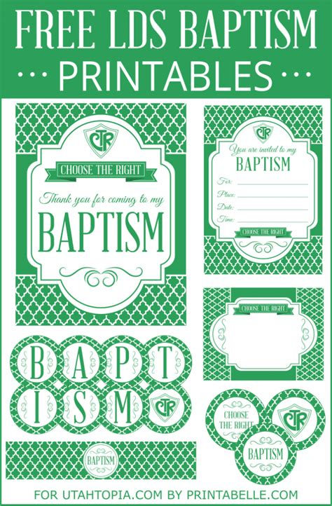 free printable lds baptism invitations