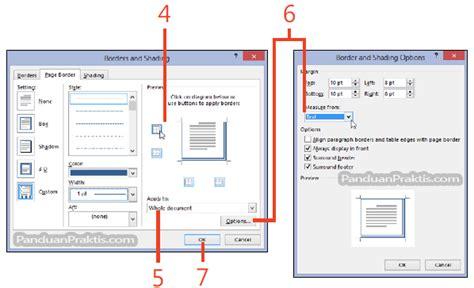 membuat halaman word 2013 cara membuat border di sekeliling halaman word 2013