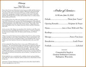 Sample Funeral Program Template 6 Funeral Program Samples Authorizationletters Org