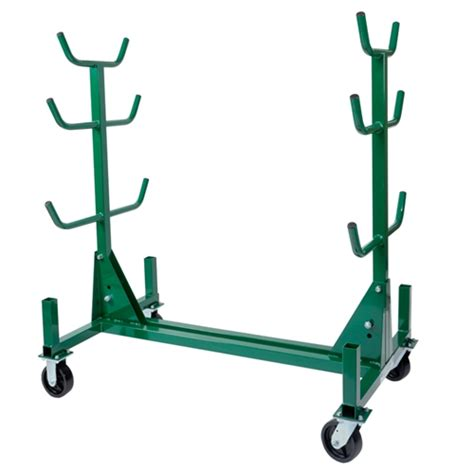 mobile by conduit greenlee 668 mobile conduit and pipe rack with casters ebay