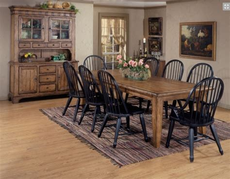 Amish Made Dining Room Sets by Treasures 7 Pc Extension Leg Table In Rustic Oak Finish