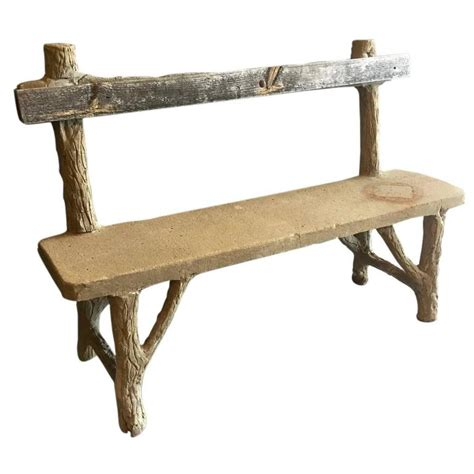 art benches concrete folk art bench for sale at 1stdibs