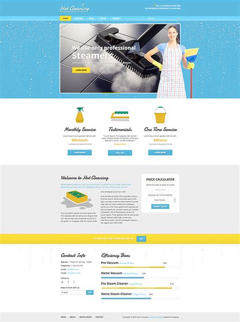 joomla cleaning template hotthemes