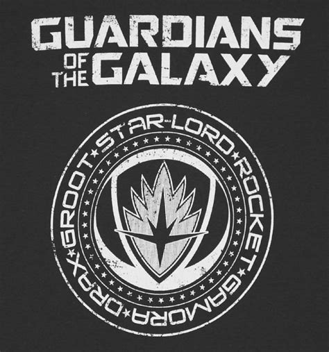 Guardian Of The Galaxy Logo s charcoal guardians of the galaxy crest logo t shirt