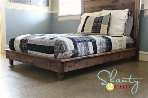 Handmade Bed Frame Plans - white hailey platform bed diy projects