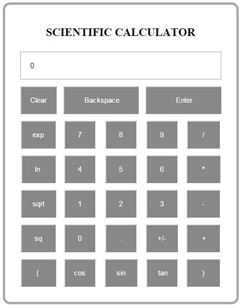 calculator javascript source code simple scientific calculator using javascript free