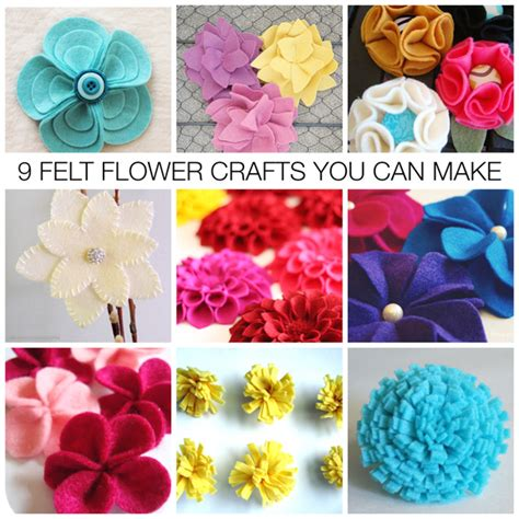 crafting ideas for gifts nine diy felt flower craft ideas mothers day gifts you