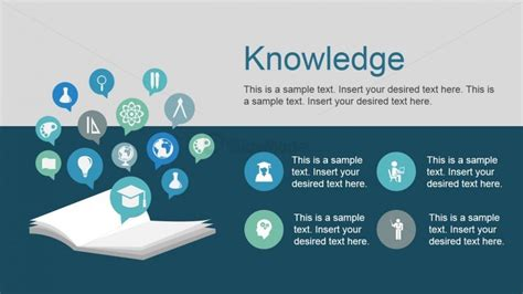 powerpoint templates knowledge free free powerpoint template icons and knowledge metaphor