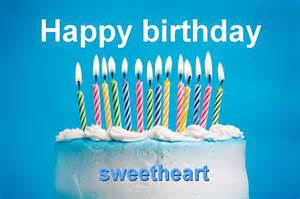 sweetheart happy birthday