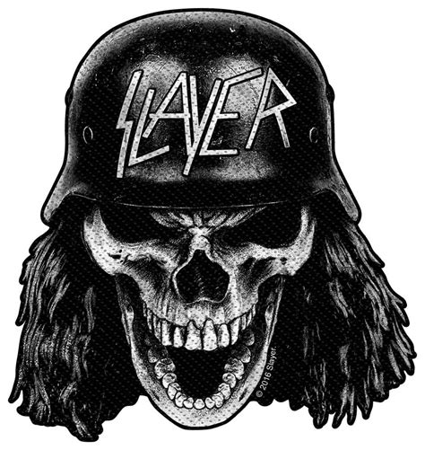 slayer wehrmacht skull cut out nuclear blast