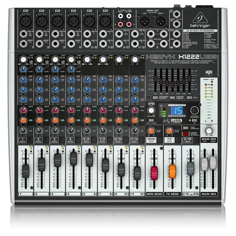Mixer Xenyx X1222usb behringer xenyx x1222usb mixer at gear4music