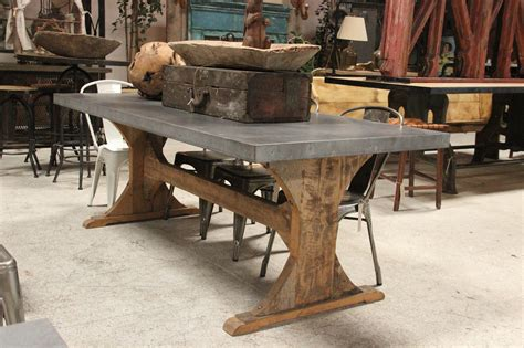 fancy metal top dining room table 23 with additional reclaimed wood trestle dining table