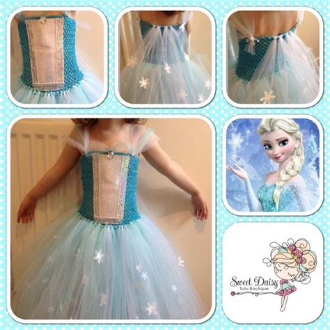 Handmade Elsa Dress - handmade elsa tutu dress from disneys frozen princess