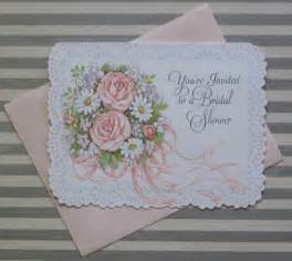 items similar to vintage hallmark bridal shower invitations nos pretty bouquet 1970s
