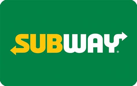 5 Subway Gift Cards - giftcardlab subway 174 gift card