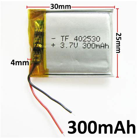 Battery Li Ion 3 7v 300mah 3 7v 300mah 402530 lithium polymer li po rechargeable diy
