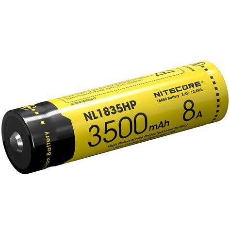 Nitecore 18650 Baterai Li Ion 3500mah 3 6v Nl1835 nitecore 18650 baterai li ion high performance 3500mah 3 6v 8a nl1835hp black yellow