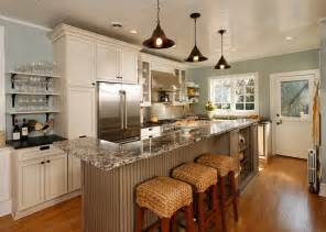 Home Styles Kitchen Island With Breakfast Bar open concept entertainer s kitchen eclectic kitchen