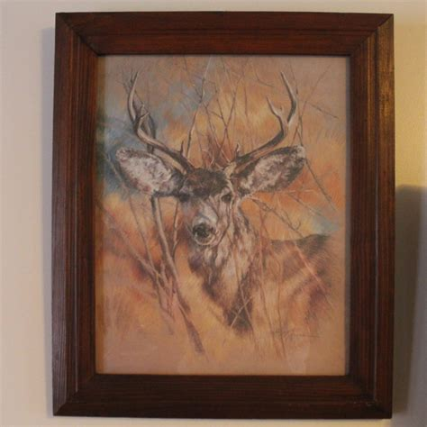 home interior deer picture vintage 1978 home interiors homco the silent buck