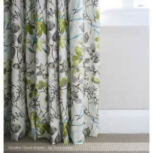 Gray Yellow Teal Curtains Kitchen Curtains Billows Of White Teal Gray And Yellow Polyvore