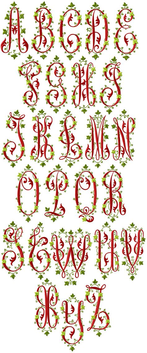 embroidery templates letters victoriana alphabet