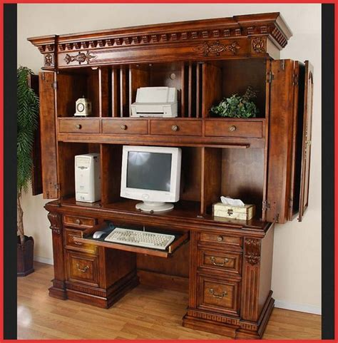 Wardrobe Computer Desk 25 Best Images About Armoires On Pinterest Arts And Crafts Large Computer Desk And Murphy Desk
