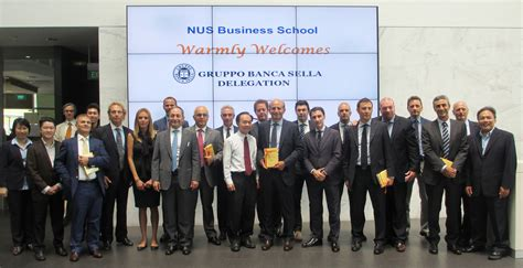 Banca Patrimoni Sella by Banca Sella Delegation Visits Nus Business School Outside In