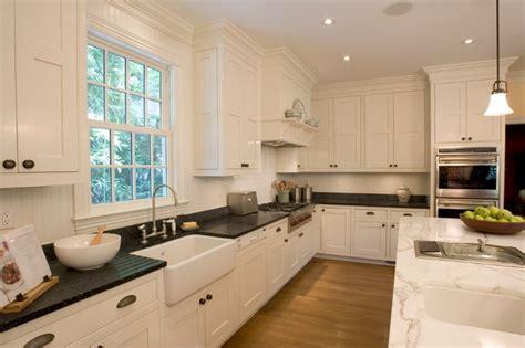 Large White Soapstone Kitchen