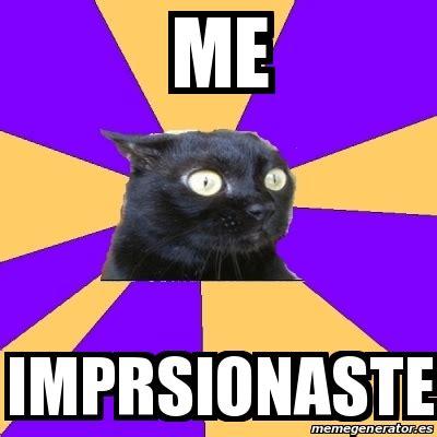 Anxiety Cat Meme Generator - meme anxiety cat me imprsionaste 25177886
