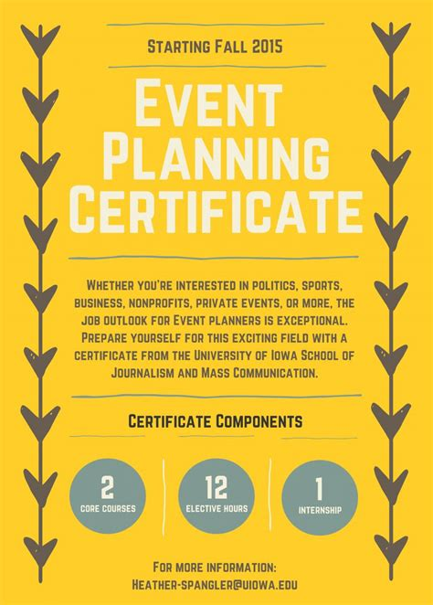what are some event planning certificate programs