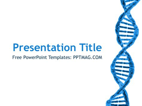 ppt templates free download genetics free dna powerpoint template pptmag