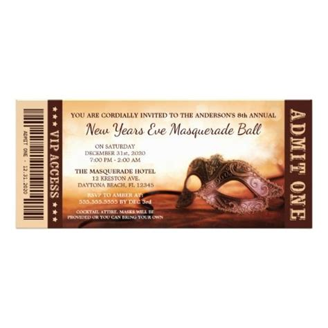 1000 Images About Nye Flyers Posters And Invitation Templates On Pinterest New Years Ticket Template