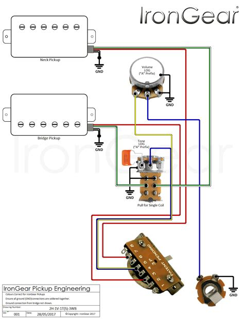 wiring diagram for single humbucker images wiring