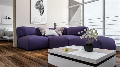 Modern Purple Sofa by Bright Homes In Three Styles Pop Scandinavian And Modern