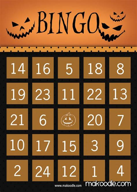 Best Printable halloween bingo cards with pictures numbers ... About:blank Free Halloween Clipart