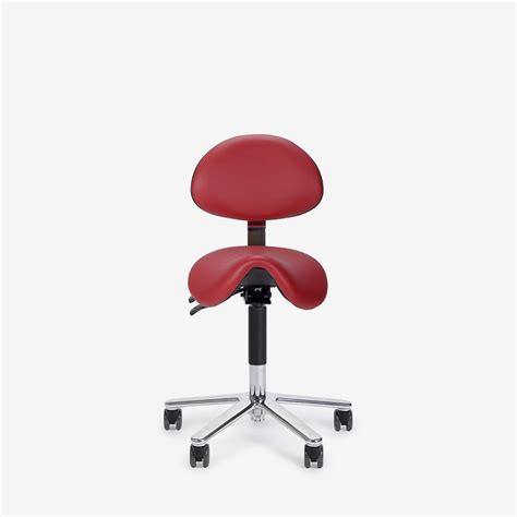Saddle Chair With Backrest by Twizzy Saddle Stools