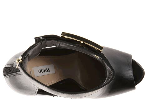 Guess Color Leather Black lyst guess shilvy in black