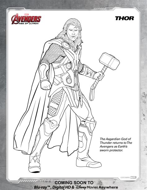 disney avengers coloring pages avengers thor coloring page disney movies disney xd