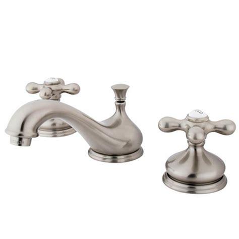 satin nickel bathroom faucets kingston brass granby 8 in widespread 2 handle bathroom