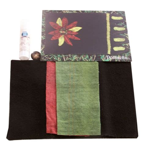 mug rug kits mug rug poinsettia kit 739189446889