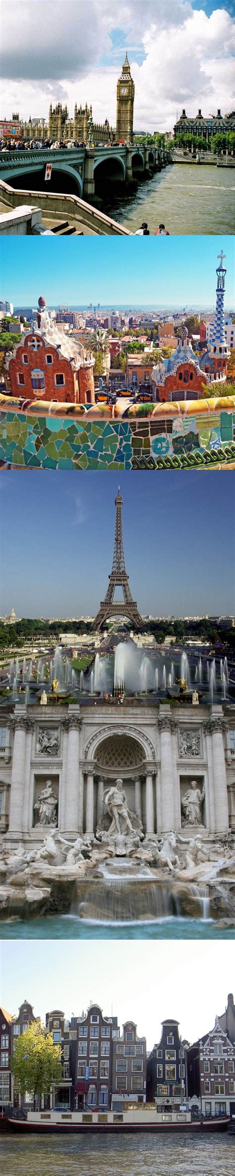 Jetset from London → Barcelona → Paris → Rome → Amsterdam ...