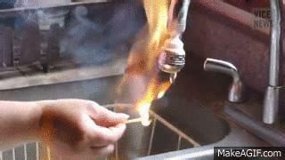 Fracking Faucet Fire Fracking Water On Fire On Make A Gif