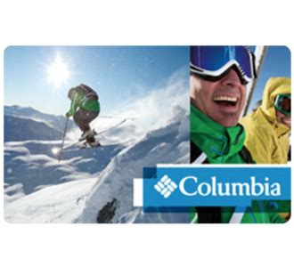 Columbia Gift Card - 100 columbia gift card for only 87 via email delivery 87 00