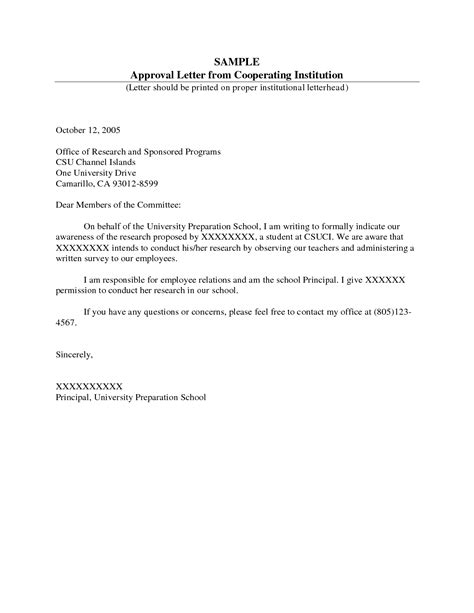 consent letter format company format of a permission letter best template collection