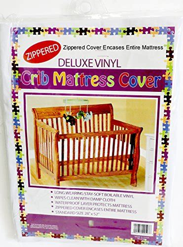 vinyl crib mattress cover deluxe vinyl crib mattress cover zippered keeps bed bugs