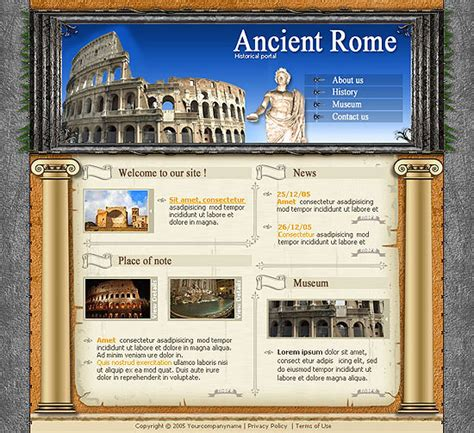 travel brochure rome