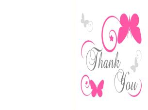 printable thank you cards online butterfly printable thank you card