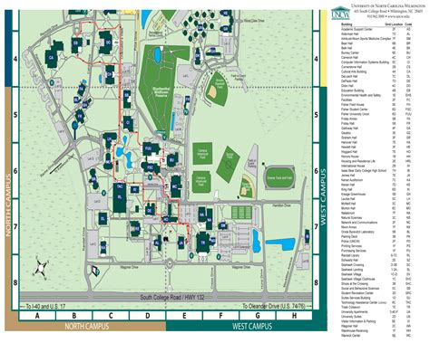 uncw map visit uncw cus tours