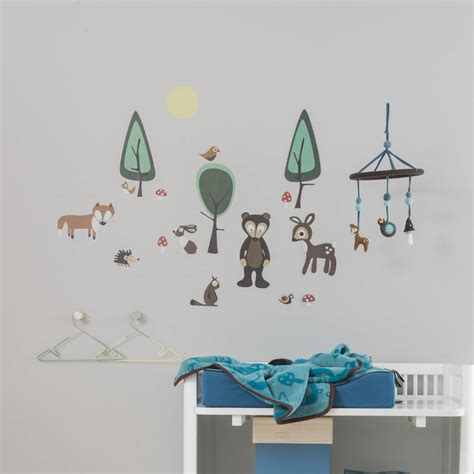 forest wall stickers forest wall sticker set by rocket and fox notonthehighstreet